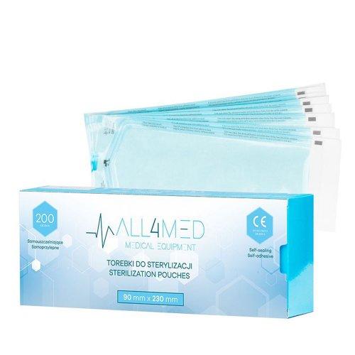 Пликове за стерилизация 90х230мм All4Med 200бр