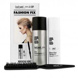 Комплект за всеки тип коса с четка за топиране Label M Fashon Fix