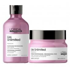 Комплект за приглаждане  на непокорна коса LOreal Professionnel Liss Unlimited