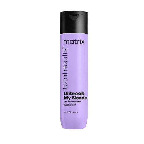 Подсилващ шампоан за изсветлявана коса Matrix Unbreak My Blonde Shampoo 300ml