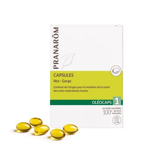 Капсули за гърло и нос Pranarom Oleocaps 1  30бр