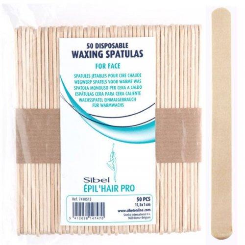Шпатули за кола маска - малки  Sibel Waxing Spatulas 50бр.